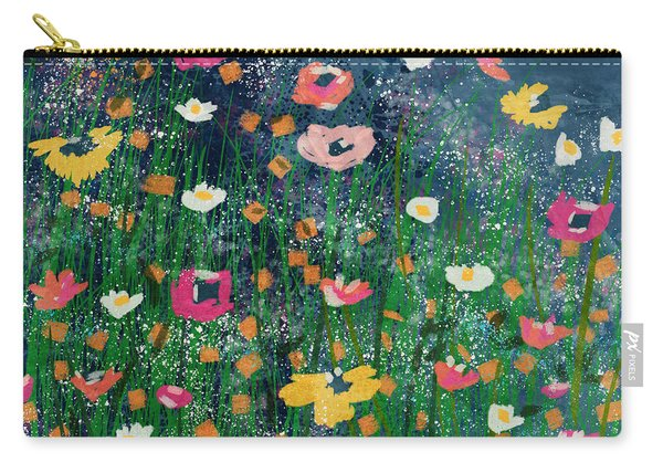 Wildflowers 2- Art By Linda Woods Carry-all Pouch