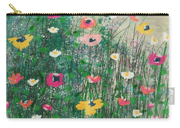 Wildflowers- Art By Linda Woods Carry-all Pouch