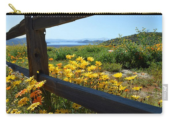 Wildflowers Over The Lake Carry-all Pouch