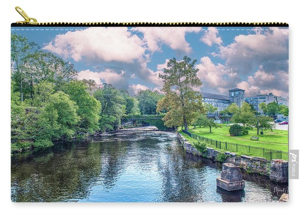 Willimantic River With Clouds Carry-all Pouch