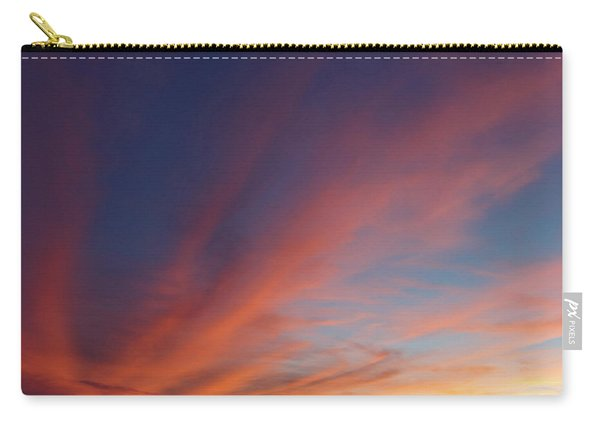 Carry-all Pouch featuring the photograph Windmill And Afterglow 04 by Rob Graham