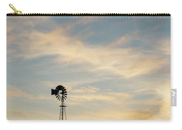 Carry-all Pouch featuring the photograph Windmill At Sunset 06 by Rob Graham