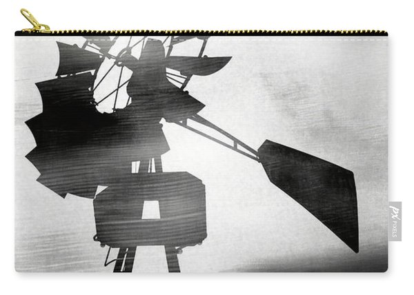 Windmill In The Wind- Art By Linda Woods Carry-all Pouch