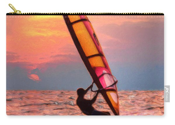 Windsurfing At Sunrise Carry-all Pouch