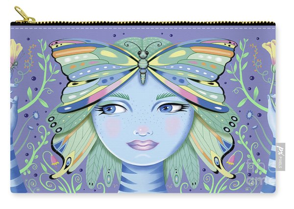 Insect Girl, Winga - Purple Carry-all Pouch