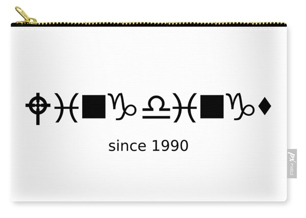 Wingdings Since 1990 - Black Carry-all Pouch
