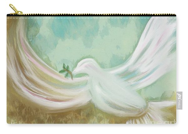 Wings Of Peace Carry-all Pouch