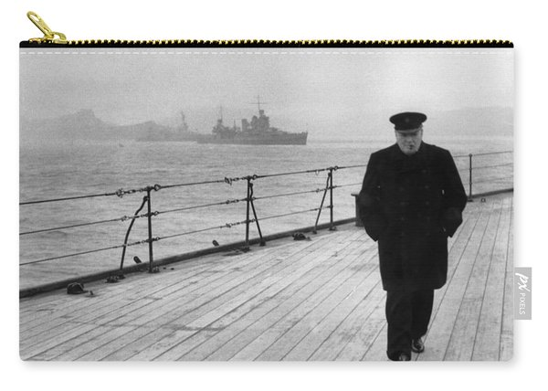 Winston Churchill At Sea Carry-all Pouch