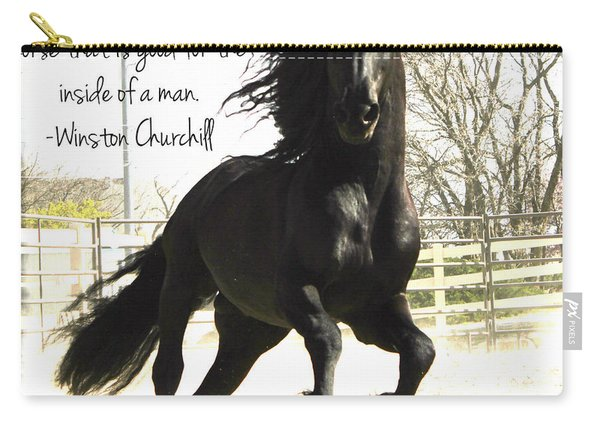 Winston Churchill Horse Quote Carry-all Pouch