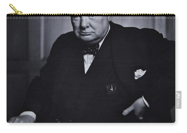 Winston Churchill In The Canadian Parliament Carry-all Pouch