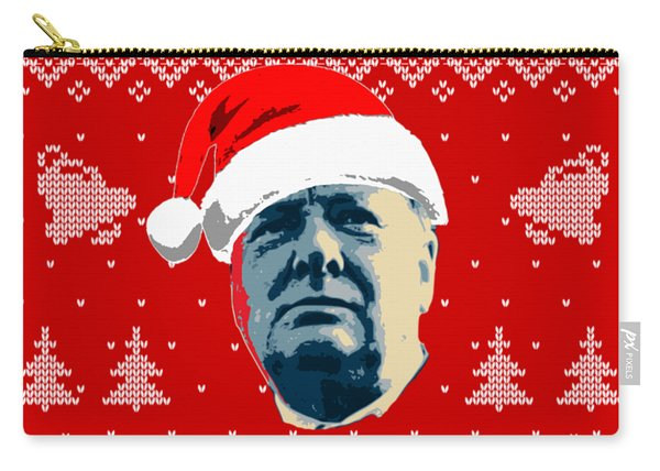 Winston Churchill Never Surrender Christmas Carry-all Pouch
