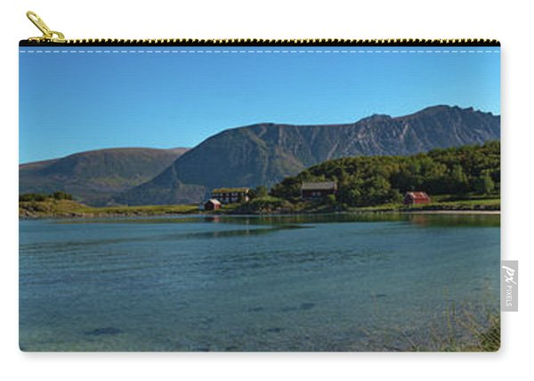 Winter Beach In Norway Carry-all Pouch