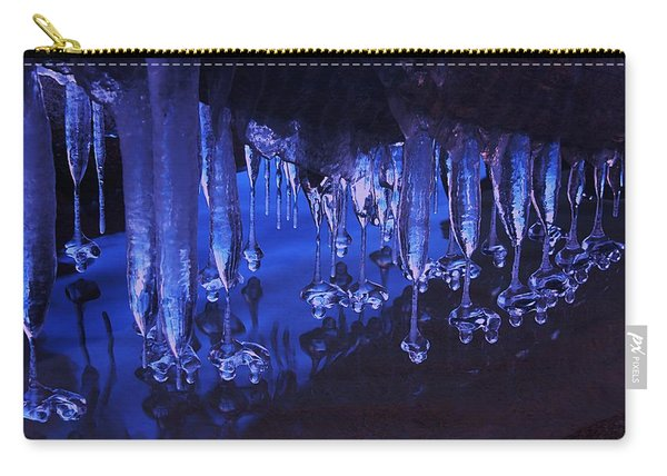 Carry-all Pouch featuring the photograph Winter Blues  by Sean Sarsfield