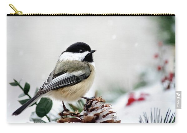 Winter Chickadee Carry-all Pouch