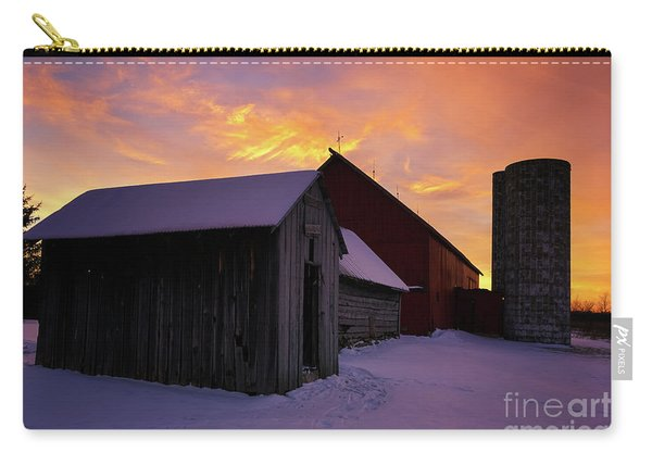 Winter Farm Chores Carry-all Pouch
