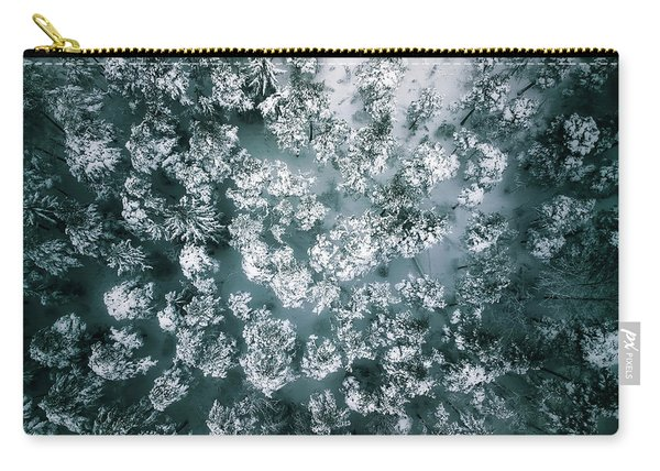 Winter Forest - Aerial Photography Carry-all Pouch