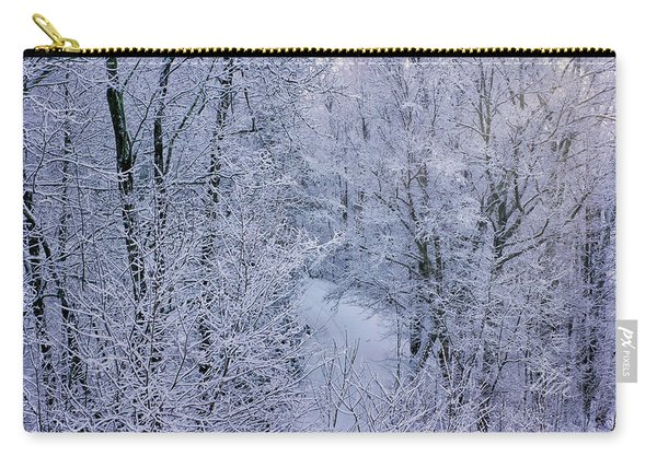 Winter Ice Storm Carry-all Pouch