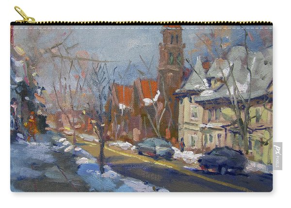 Winter In Elmwood Ave Buffalo Ny Carry-all Pouch