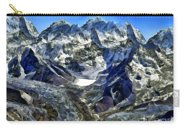 Winter Landscape In The Mountains Carry-all Pouch