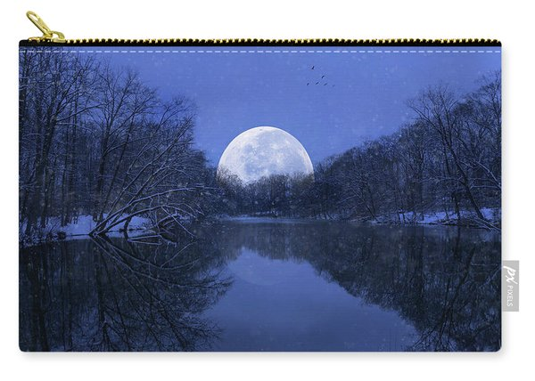 Winter Night On The Pond Carry-all Pouch