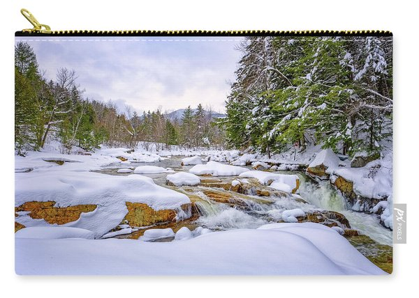 Carry-all Pouch featuring the photograph  Winter On The Swift River. by Jeff Sinon