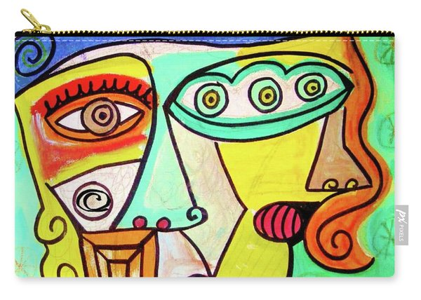 Winter Sage Cubist  Carry-all Pouch