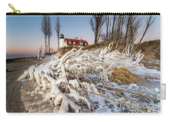 Winter Shore At Point Betsie Carry-all Pouch
