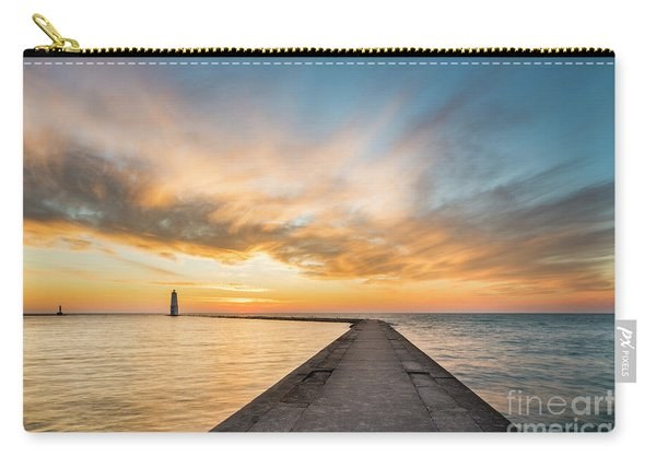 Winter Sunset Over Frankfort Pier Carry-all Pouch
