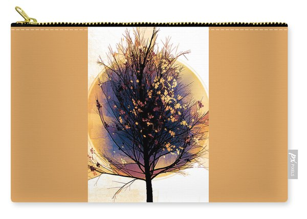 Winter Tree In Golds  Carry-all Pouch