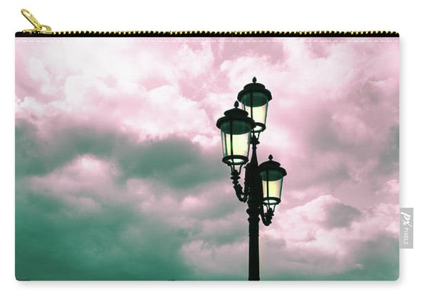 Winter Venice Lantern On The Embankment Carry-all Pouch