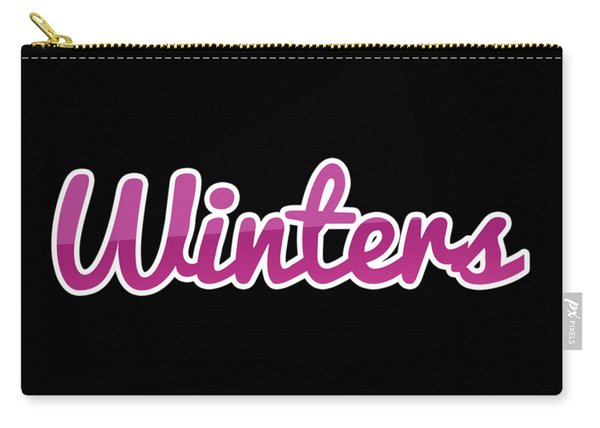 Winters #winters Carry-all Pouch