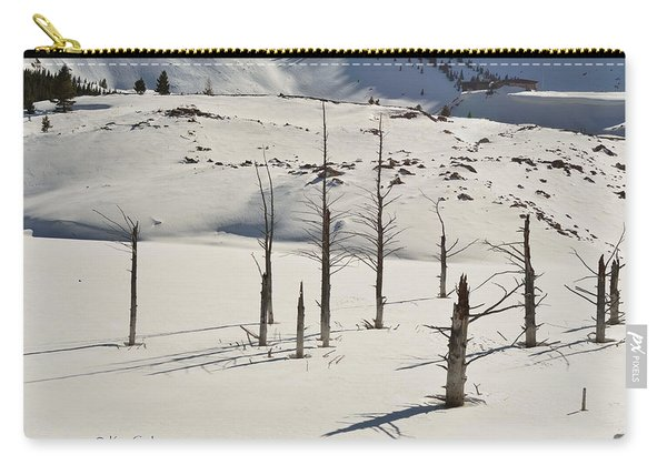 Wintertime At Quake Lake Carry-all Pouch