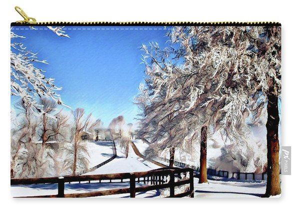 Wintry Lane Carry-all Pouch