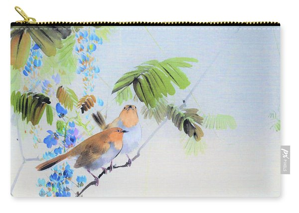 Wisteria Flowers And Birds - Digital Remastered Edition Carry-all Pouch