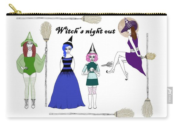 Witch's Night Out Carry-all Pouch