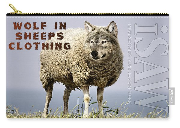 Wolf In Sheeps Clothing Carry-all Pouch