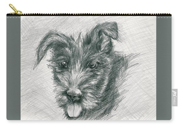Wolfhound Puppy Sketch Carry-all Pouch