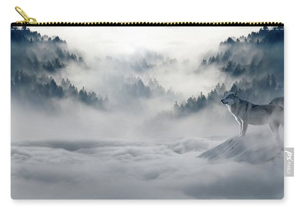 Wolfs In The Snow Carry-all Pouch