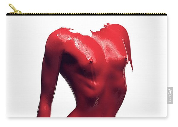 Woman Body Red Paint Carry-all Pouch