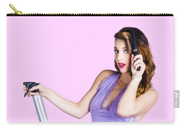 Woman Brushing Her Hair  Carry-all Pouch