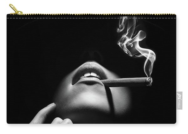 Woman Smoking A Cigar Carry-all Pouch