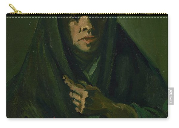 Woman With A Mourning Shawl Carry-all Pouch