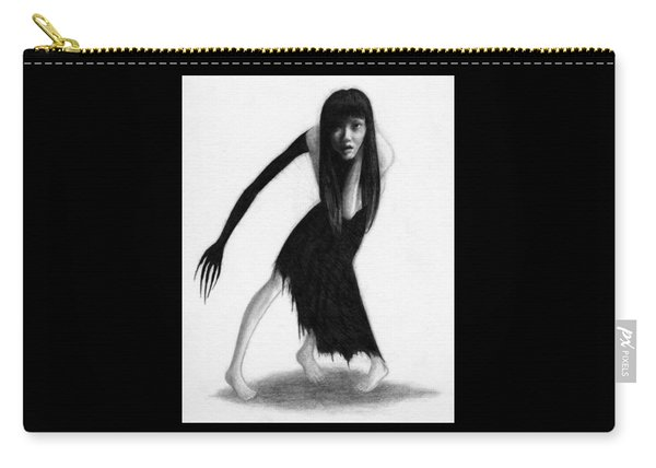 Woman With The Black Arm Of Demon Ghost - Artwork Carry-all Pouch