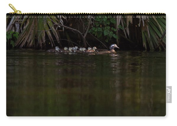 Wood Duck And Ducklings Carry-all Pouch