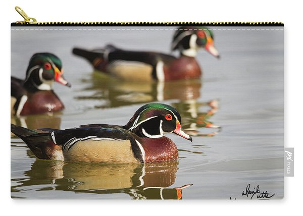 Wood Duck Threesome Carry-all Pouch