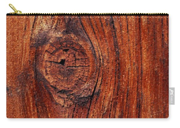 Carry-all Pouch featuring the digital art Wood Knot by ISAW Company