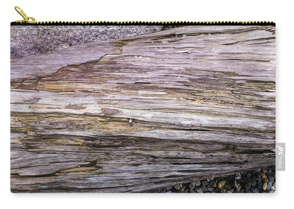 Carry-all Pouch featuring the photograph Wood Log In Nature No.28 by Juan Contreras
