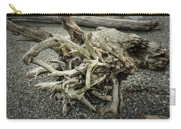 Carry-all Pouch featuring the photograph Wood Log In Nature No.34 by Juan Contreras