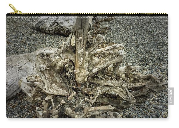 Carry-all Pouch featuring the photograph Wood Log In Nature No.36 by Juan Contreras