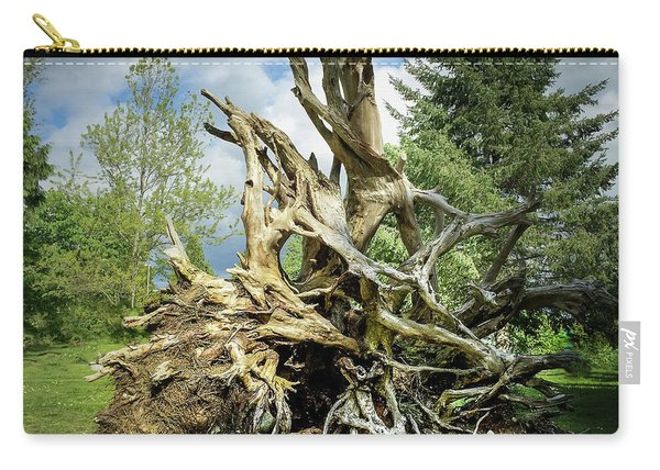 Carry-all Pouch featuring the photograph Wood Log In Nature No.6  by Juan Contreras